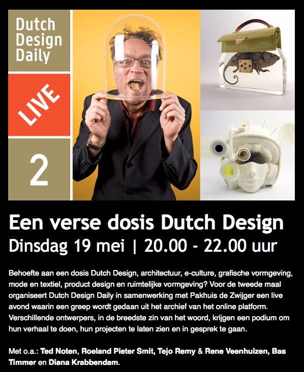 Woes van haaften nieuws dutch design daily live 2 for Daily design news